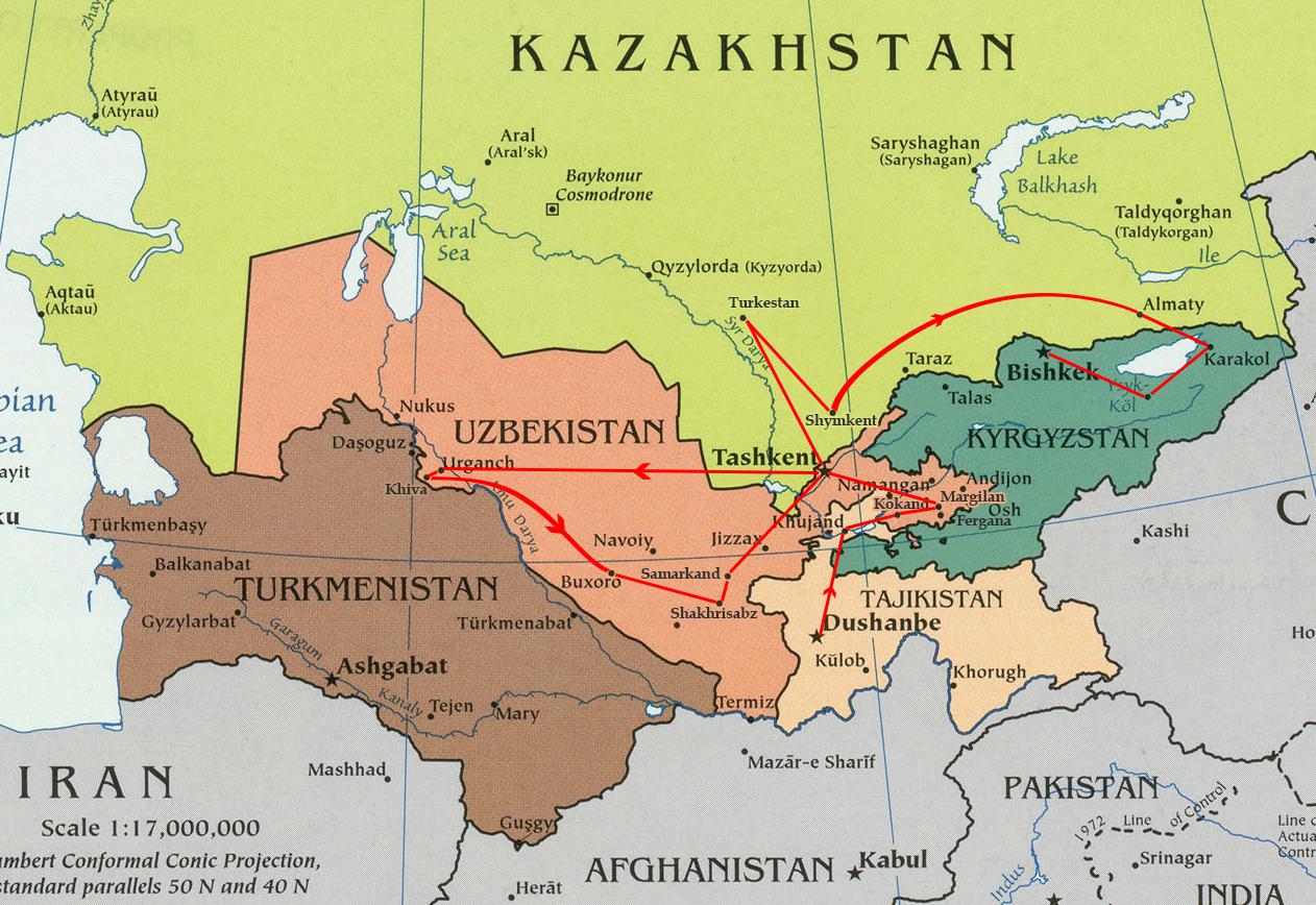 Tajikistan Uzbekistan Kazakhstan Kyrgyzstan Simurg Travel